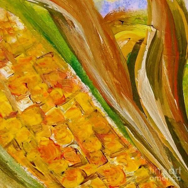 Husk Painting - Corn In The Husk by Eloise Schneider Mote