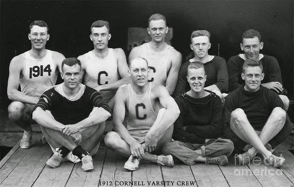 Photograph - Cornell 1912 Varsity Crew by Celestial Images