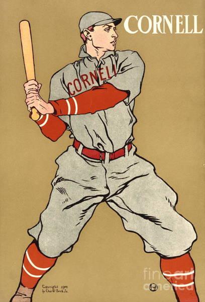 College Baseball Photograph - Cornell Baseball 1908 by Padre Art