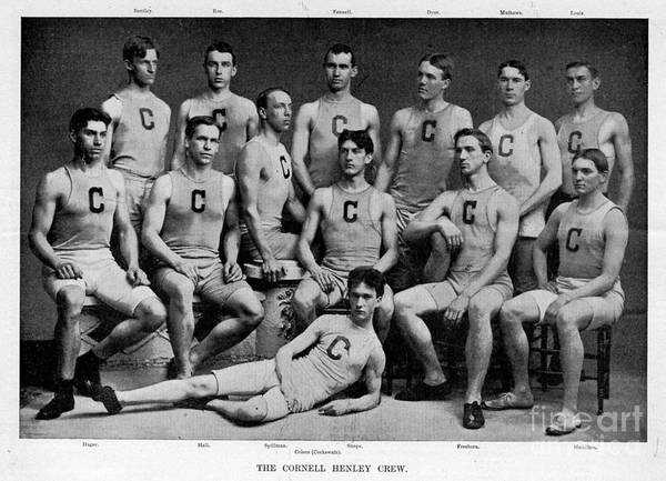 Rowing Photograph - Cornell Henley Crew 1895 by Celestial Images