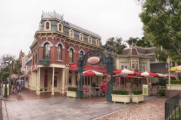 Clothier Photograph - Corner Cafe Main Street Disneyland 02 by Thomas Woolworth