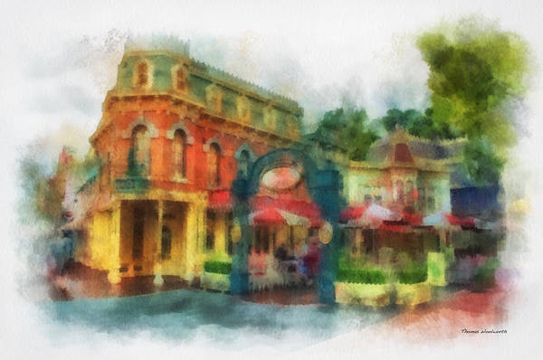 Clothier Photograph - Corner Cafe Main Street Disneyland Photo Art 01 by Thomas Woolworth