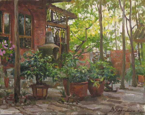 Wall Art - Painting - Corner Of A Garden by Victoria Kharchenko
