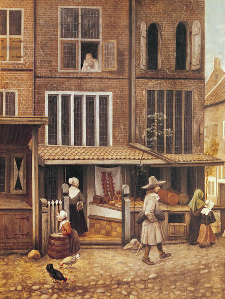 Wall Art - Photograph - Corner Of A Town With A Bakery Oil On Panel by Jacobus Vrel or Frel