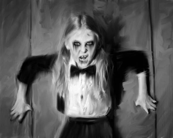 Scream Painting - Cornered by H James Hoff