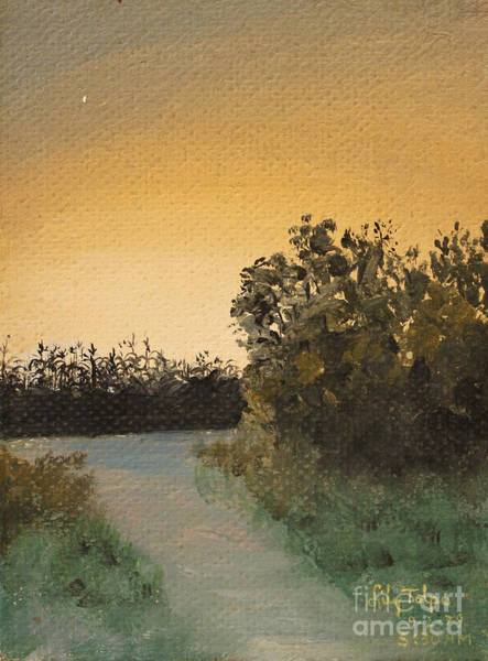 Painting - Cornfield At 530am by Art By Tolpo Collection