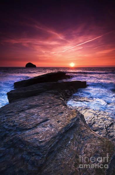 Cornish Sunset Art Print