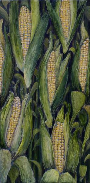 Husk Painting - Cornucopia by Linda Carmel