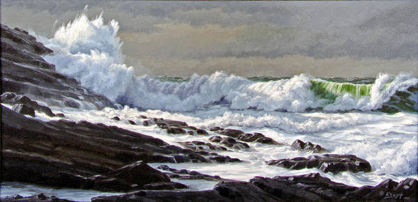 Surf Painting - Cornwall Coast by Paul Krapf
