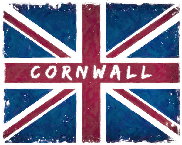 Digital Art - Cornwall Distressed Union Jack Flag by Mark Tisdale