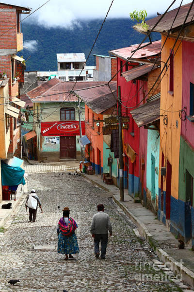 Photograph - Coroico Street Scene by James Brunker