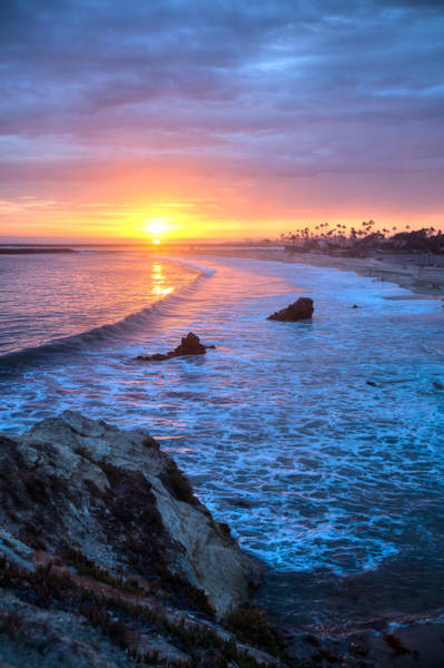 Photograph - Corona Del Mar Colorful Sunset by Cliff Wassmann