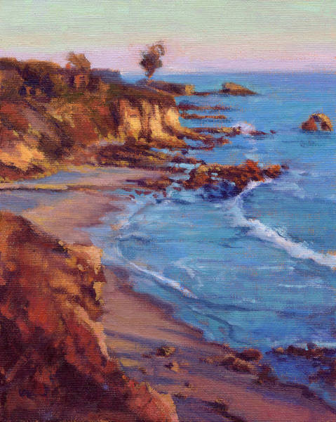 Art Print featuring the painting Corona Del Mar by Konnie Kim