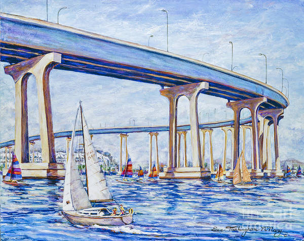 Painting - Coronado Bay Bridge by Glenn McNary