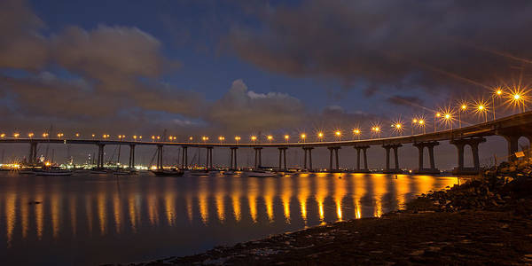 Photograph - Coronado Bridge by Peter Tellone