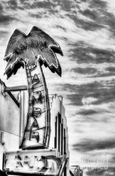 Photograph - Coronado Neon Dreams Bw by Mel Steinhauer