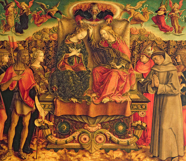 Assisi Painting - Coronation Of The Virgin by Carlo Crivelli