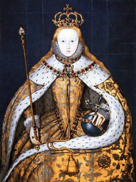 Tudor Photograph - Coronation Of Tudor Queen Elizabeth 1  1559 by Daniel Hagerman