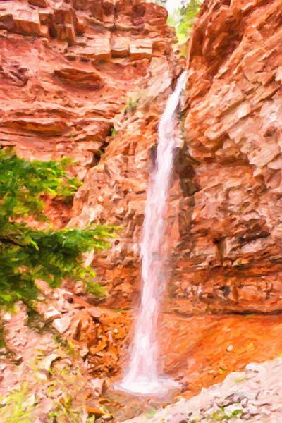 Digital Art - Coronet Creek Falls by Rick Wicker