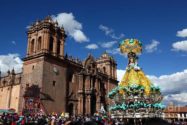 Photograph - Corpus Christi Festival In Cusco by James Brunker