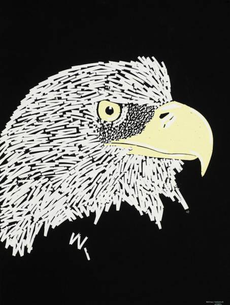 Contrast Mixed Media - Correction Tape Eagle by Nathan Shegrud
