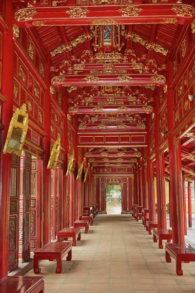 Wall Art - Photograph - Corridor In The Forbidden Purple City by David Wall