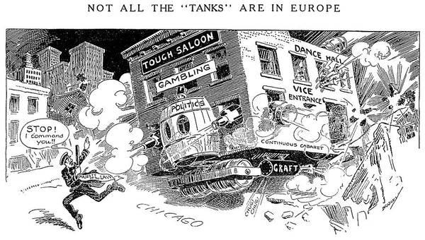 Political Cartoon Painting - Corruption Cartoon, 1916 by Granger