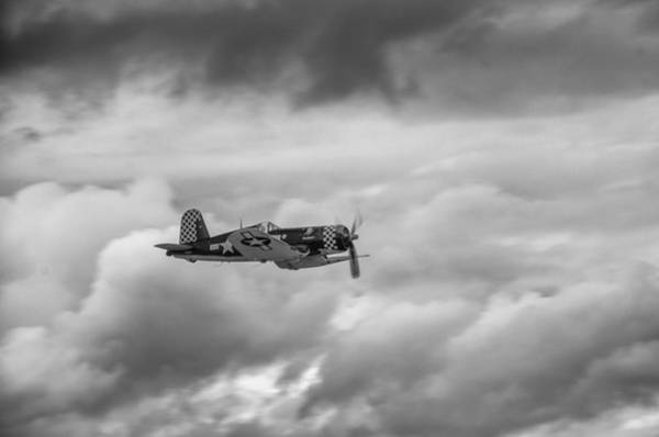 Photograph - Corsair In The Clouds   7d015 by Guy Whiteley