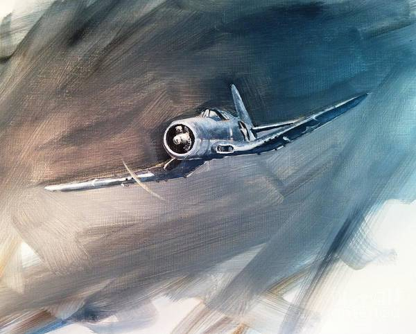 Corsair Painting - Corsair Sketch 1 by Stephen Roberson