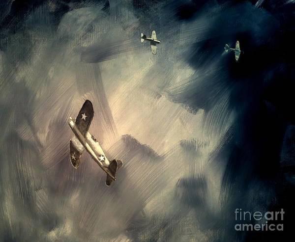Corsair Painting - Corsair Sketch 2 by Stephen Roberson