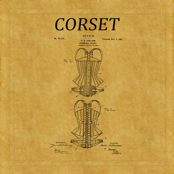 Photograph - Corset Patent 10 by Andrew Fare