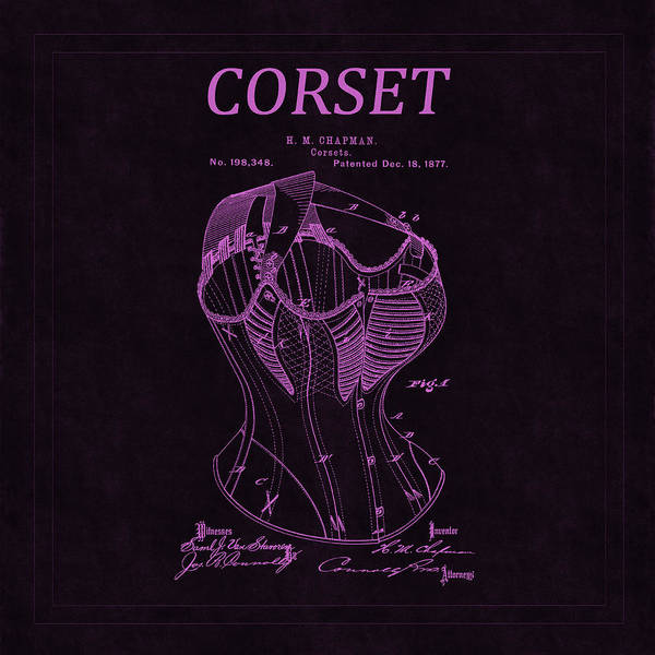 Photograph - Corset Patent 3 by Andrew Fare
