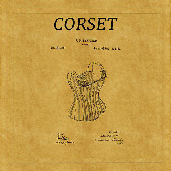Photograph - Corset Patent 4 by Andrew Fare