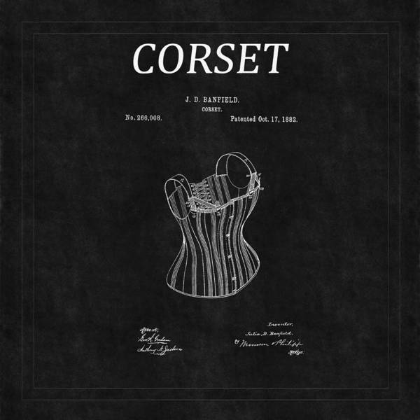 Photograph - Corset Patent 5 by Andrew Fare