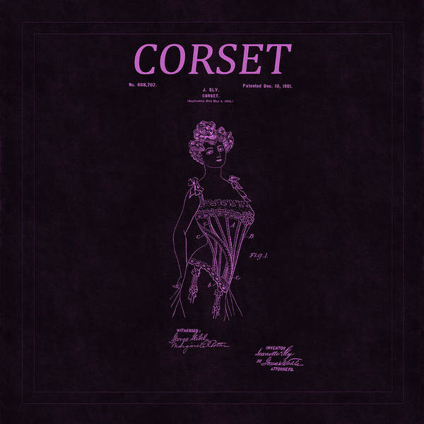 Photograph - Corset Patent 9 by Andrew Fare
