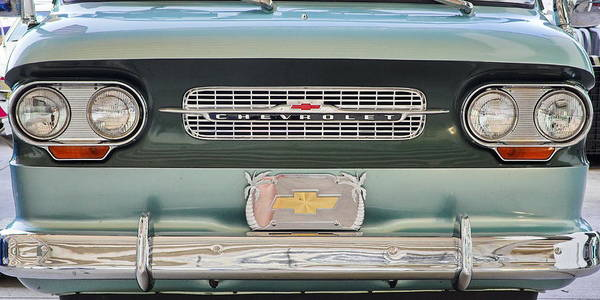 Photograph - Chevrolet Corvaire95 Truck Grill by Simply  Photos
