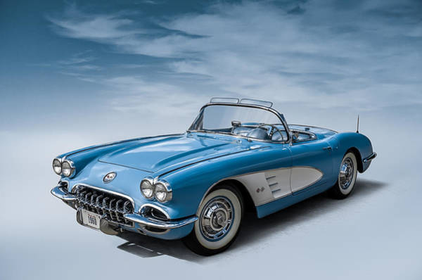 1960 Wall Art - Digital Art - Corvette Blues by Douglas Pittman