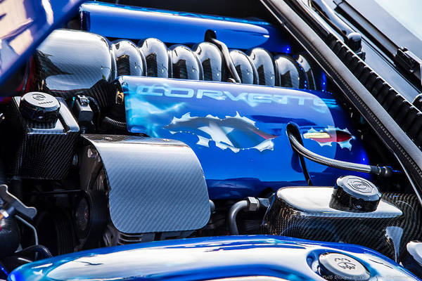 Photograph - Corvette Engine by Teresa Blanton