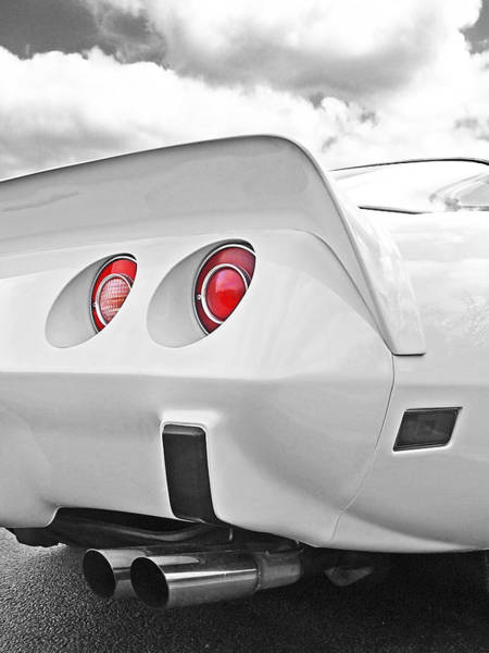 Photograph - Corvette Rear Lights by Gill Billington