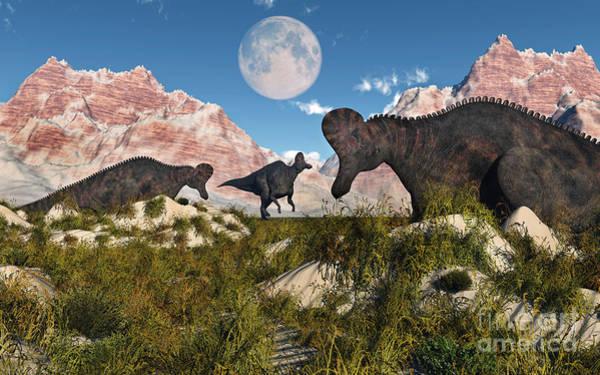 Mound Digital Art - Corythosaurus Nesting Ground Set by Mark Stevenson