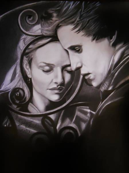 Miserable Drawing - Cosette And Marius.  by Joseph Unruh