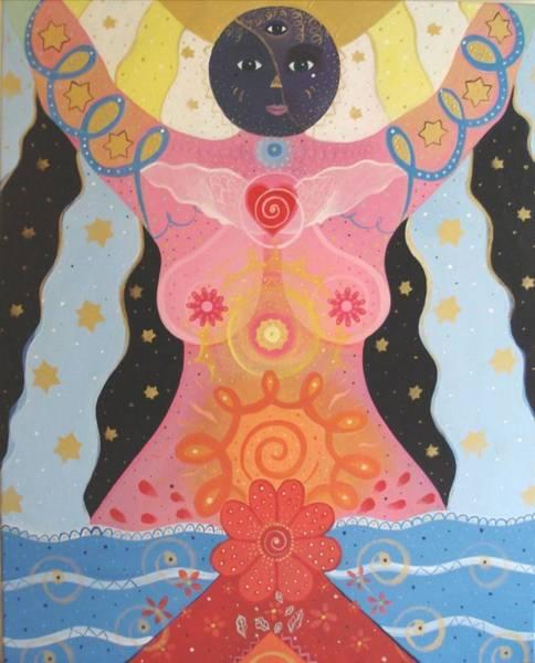Painting - Cosmic Carnival I V Aka Creation by Helena Tiainen