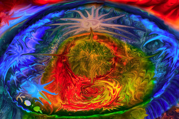 Mixed Media - Cosmic Compass by Omaste Witkowski