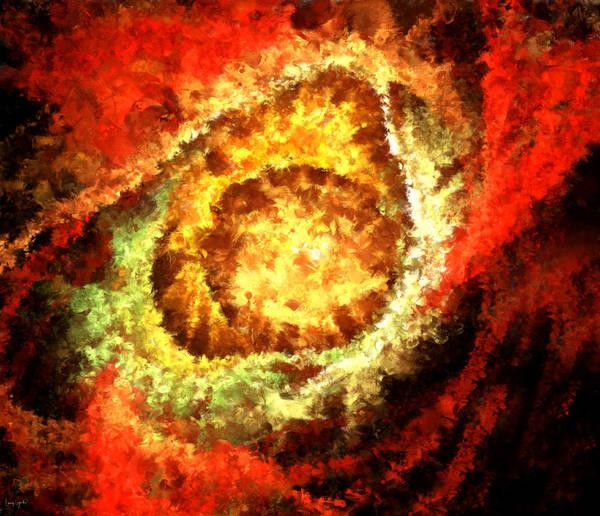 Wall Art - Digital Art - Cosmic Flares by Lourry Legarde