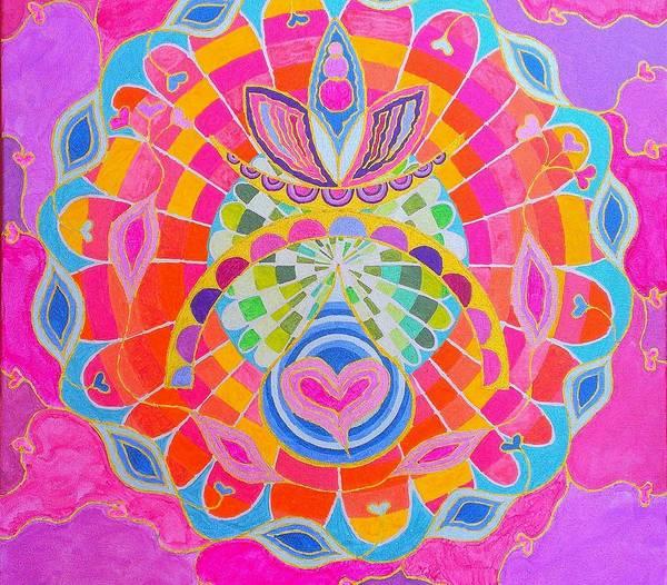 Initiation Painting - Cosmic Heart by Mauro Zaraj