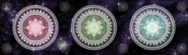 Digital Art - Cosmic Medallians Rgb 2 by Shawn Dall