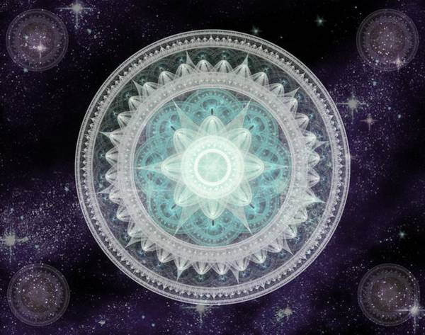 Digital Art - Cosmic Medallions Water by Shawn Dall