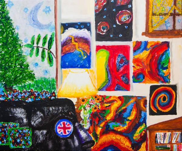 Idealistic Wall Art - Painting - Cosmic Phenomenon In My Living Room by Natasha R Three