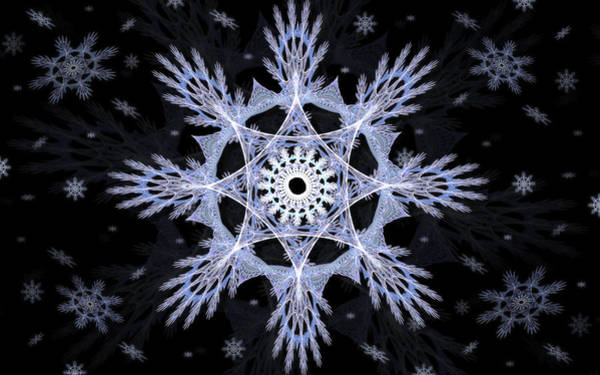 Digital Art - Cosmic Snowflakes by Shawn Dall