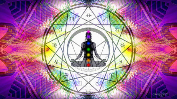 Digital Art - Cosmic Spiral Ascension 14 by Derek Gedney